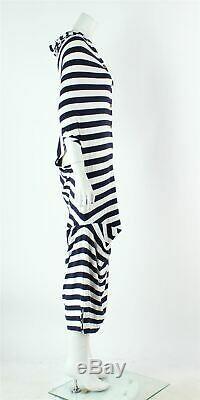 VIVIENNE WESTWOOD RED LABEL Striped Hooded Belted Knee Length Dress, Size S