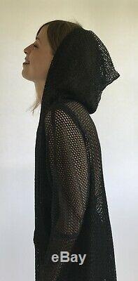 Vintage 1992 -1994 Issey Miyake Mesh Tunic Dress With Hood