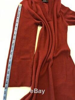Vintage 70's Clovis Ruffin Ruffinknit Size 10 Wool Blend Sweater Dress Hooded 61