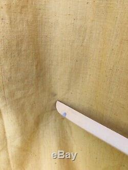 Vintage 70s Kaftan Pakistan Cotton Mustard Hooded Hand Embroidered Tunic dress M