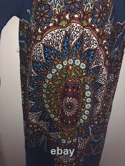 Vintage 70s Mina Of England Carnaby Street Long Hooded Kaftan Ethnic Bohemian