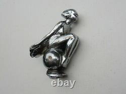 Vintage AEL Lejeune Girl Lady Flowing Dress Car Mascot Hood Ornament