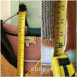 Vintage Fendi Dress Woven Hooded Hoodie Sweater Wool & Alpaca Ital 40 (U. S. S/M)