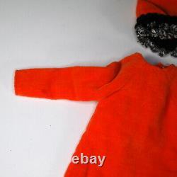Vintage Francie Orange Cozy #1263 Outfit N/C Dress Hood Boots 1 Glove Doll