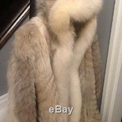 Vintage Full Length With Hood Canadian Coyote And Fox Coat