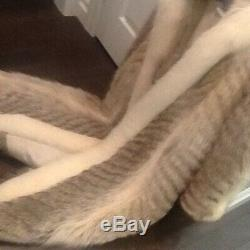 Vintage Genuine Coyote Fur Coat With Fabulous Hood Very Rare Style