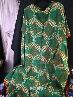 Vintage Green and Orange Caftan Camilla Franks Style (unbranded)
