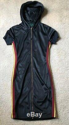 Vintage Jean Paul Gaultier Black Athletic Zip Up Hoodie Dress Mint Condition 42