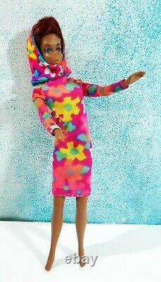 Vintage Mattel 1966 Twist N Turn Redhead Julia Japan Francie Label Dress & Hood