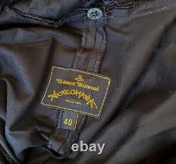 Vivienne Westwood Anglomania Black A-line Hooded Shirt Dress Size 40