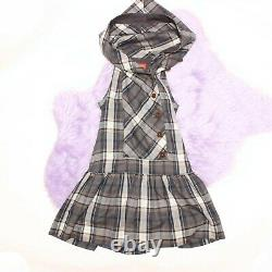 Vivienne Westwood hooded check pleated dress S