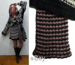 WARM chunky knit hooded cardigan DRUNKEN Eskimo SWEATER DRESS Vivienne Westwood