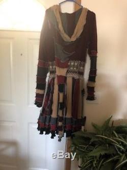 Womans Pixie, Gyspy Coat Of Many Colors, Long Pixie Hood