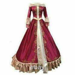 Women's Christmas Halloween Dress Cosplay Princess Cartoon Hood Belle CostumesA