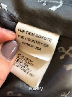 Women's Grey Wool hooded Pea Coat Sz M, runs small from Barneys NY Made in USA