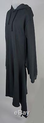 Women's Vetements Black Hooded Maxi Sweatshirt Dress Size S