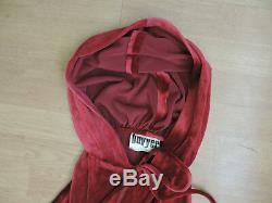 Women's Vintage Buvyer Red Riding Hood Cape Cloak Velvet Cosplay + Dress A2-A5