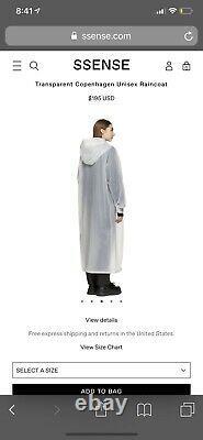 Won Hundred Transparent Hooded Rain Coat