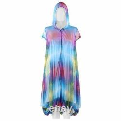 Y-3 YOHJI YAMAMOTO S/S 2014 Abstract Print Mesh Hooded Bubble Hem Jacket / Dress