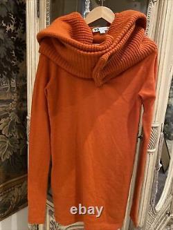 Y-3 Yohji Yamamoto rare find, sweater-dress orange, long sleeves, huge collar, hood