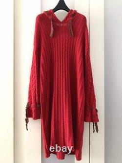 Yohji Yamamoto Y's 19AW hooded knit dress size 2 from Japan Free shipping